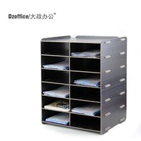 Wholesale Creative wood office supplies desktop A5 documents multilayer information