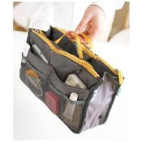 Wholesale Women Fashion Organizer Travel Bag Purse Handbag Insert Tidy Handbag Pouch Bag in Bag Organiser Insert Organizer Cosmetic Purse MP3 MP4