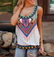 Wholesale Cotton Geometric Round Neck Sleeveless Sexy T shirts Vests