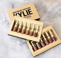 Wholesale Hot Kylie Jenner Lipgloss Cosmetics Matte Lipstick Lip Gloss Leo Kit Lip Birthday Limited Edition With Gold Color Box set Lip Stick