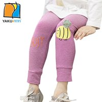 bee tights - Girls Bees Letter Print Skinny Leggings Stripe Elastic Waist Long Pants Cute Preppy Style Tights Kids Wear YAKUYIYI