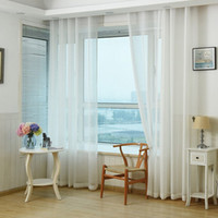 Wholesale Solid color wedding glass yarn transparent screens color finished products curtains Sheer Curtains