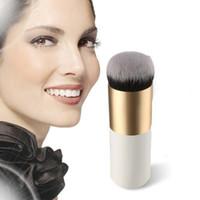 bb factory - Gold Ferrule Foundation Brush BB Cream Fashion Lady Love Fat Flat Brush Factory Direct Sale L DHL