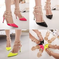 ballet flat sneakers - 3 Strap Rivet Shoes Wedding Shoes Sexy Elegant Casual Dinner Party Women High Heel Stiletto Shoes