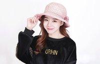 al por mayor la moda de las mujeres jóvenes sombreros-Las muchachas surcoreanas forman los sombreros, manera simple y fácil, conveniente para la mujer joven, previenen la radiación solar