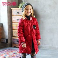Wholesale good quality Girl Long down Coat winter new arrival White duck down Children Keep warm Down Jackets colors size