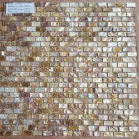 Wholesale Natural Brown MOP Brick Mosaic Tile Splashback Pearl Tiles