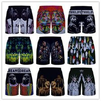 Wholesale Drawstring Shorts Men women Biggie Smalls Tupac pac Skulls Victory Unisex Brand Shorts Women Fitness Casual Shorts For Women