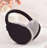 Wholesale 2016 New Style Winter Earmuffs For Women Warm Unisex Ear Muffs Winter Ear Cover Knitted Plush Winter Ear Warmers