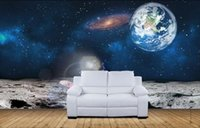 Non Woven apollo painting - 3d room wallpaper custom photo non woven mural Space outside the Apollo moon landing painting picture d wall murals wallpaper for walls d