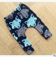 Wholesale Ins Baby Clothes Kids Toddler Autumn Winter Warm Leggings Wolf Head Print Harem Pants Children Baby Trousers for Boys and Girls