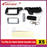 Wholesale Russia Two way car alarm TOMAHAWK X5 Case Keychain for way car alarm remote Only Body keychain Tomahawk X5