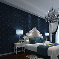 Wholesale cheap x10m American retro non woven wallpaper bedroom living room TV backdrop green blue wallpaper