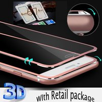 Wholesale 3D Curved Screen Protector Film for iPhone plus iphone s plus Tempered Glass Full Cover Titanium Edge Film Full Coverage