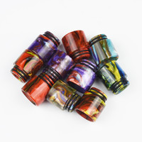 bear packing - TFV8 Resin Drip Insulation holder Colorful Resin Wide Bore drip tips Mouthpiece for TFV8 Atomizer Tank Vaporizer with Single Retail Pack
