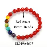 bead jewlery - New Style Natural Stone Yoga Bracelet For Women Charms Silver Jewlery Chakra Bracelet Men Black Lava Healing Balance Beads Reiki Prayer