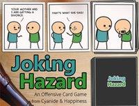 achat en gros de boîte de carte de jeu-Jeu de dangers de plaisanterie Jeux drôles pour les adultes avec la boîte de détail Bandes dessinées Jeux de cartes jeux de société