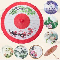 achat en gros de pivoine parapluie-Classic China Peony Wedding Decoration Craft Oiled Paper Umbrella Dancing Cadeau promotionnel Sunshade Cosplay Props ZA2986