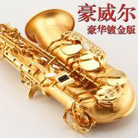 Wholesale Alto Saxophone Eb Flat Top Musical Instrument Drop E Saxophone Surface Gilding Sax Professional Good Quality Saxofone With Case