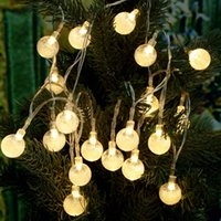 battery outside lights - Led Outdoor String Lights M LEDs Crystal Ball Globe Fairy Strip Lights for Outside Garden Patio Party Christmas