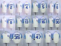 baseball brett - Kansas City Royals Mens Escobar Gordon Brett Cain Moustakas Perez Bo Jackson Ventura Hosmer Cueto Vintage Jersey