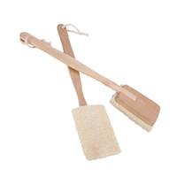 bath brush with long handle - Natural Loofah Bath Body Shower Spa Back Brush with Long Handle