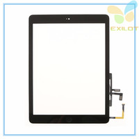 air sticker - For iPad air for iPad Touch Screen Glass Digitizer Assembly with Home Button Adhesive Glue Sticker Replacement Repair Parts Black White