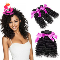Acheter Extensions de cheveux naturels en ligne-8A de qualité non traitées cheveux de la Virginie cheveux Deep Wave Weaves couleur naturelle malaisienne Deep Wave extensions de cheveux Cheap Weave en ligne 4 lots offres