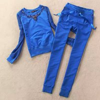 Wholesale 2017 new cotton Women s sport suits Autumn and Winter casual clothiong set Luxury women casual tracksuit
