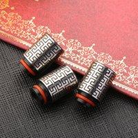 Pointes de goutte d'acier inoxydable les plus récentes 510 gouttes d'égouttement avec embouchures en métal style chinois modèle pour cigs e 510 réservoir DHL gratuit