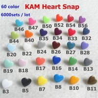 Wholesale color DHL sets KAM Heart Plastic Resin Snaps Buttons Fasteners for baby Cloth Diaper bib XT sets per color