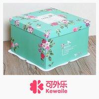 Wholesale 6 inch birthday cake box green secret garden three in one box of cake baking box