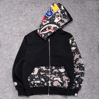 Wholesale Autumn Winter Men Women Animal Print Camo Hoodies Loves Full Zip Luminous Fleece Cardigan Sweatshirt Coat Teenagers Hip Hop Hoodies
