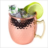 beer glass types - Hammered Copper plated Stainless Steel Copper Moscow Mule Mug Drum Type Beer Cup Coffe Cup Water Glass Drinkware