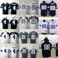 Wholesale Drop Ship Cowboys Men s Ezekiel Elliott Dak Prescott Stitched Jerseys Blue White thanksgiving football jerseys