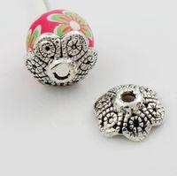 bali bead caps - 42pcs x10 mm Antique Silver Filigree Bali Style Design Bead Cap Jewelry Findings Components L1067