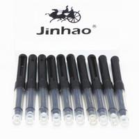 Precio de Cartuchos de tinta de la fuente al por mayor-Venta al por mayor - los pequeños cartuchos negros de la bomba del convertidor de la tinta de la pluma universal de Jinhao 10pcs liberan el envío
