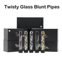 al por mayor vaporizadores fuman-Twisty Glass Tubos Blunt Vaporizadores de hierba seca Pipas de fumar Twist Me Vape Kits con más accesos 7pipes Clon de alta calidad