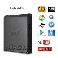 T95X 2G / 8G Smart Smart Android 6.0 TV Box HD Quad Core Amlogic Boîte sans fil Ethernet IPTV Box Support USB TF Card avec le paquet de détail
