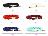achat en gros de main armure liée-41 Styles Nouvelle Mode Rastaclat bracelet Bracelet Wristband main tissé liens réglables 16cm 100% chaîne de polyester une taille s'adapte à la plupart des cadeaux bon marché