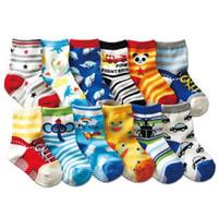 Wholesale Cotton Baby Boys Socks Girls Socks Cartoon Children Slip Resistant Floor Socks Cartoon Kids Years
