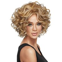 Wholesale Western style short curly hair wigs Synthetic Wigs fashion Serious stars hairstyle Factory direct sale