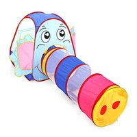 Wholesale Portable Kids Toy Tent Foldable Outdoor Indoor Cartoon Elephant Tent Children Playhouse Play Game House Cubby Hut Sport Tents
