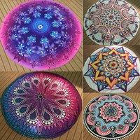 beige bath mat - Hot Round Mandala Tapestry Indian Wall Hanging Beach Throw Towel Yoga Mat Blanket Sun Bath Shawl
