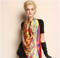 Fashion amazing gift wrapping - LUXURY SCARF Female Real Silk Square Scarf and shawls Wraps Elegant Lady BEST GIFT AMAZING Muffler SO GOOD
