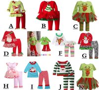Cheap Girl girls christmas 2pc set Best Summer 100% Cotton ruffle pants