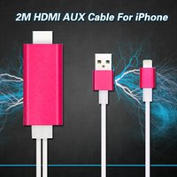 Wholesale Dock to HDMI HDTV TV Adapter USB Video MHL Cable for iPhone S S Plus plus HDMI Cable with retail package