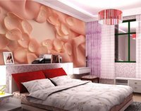 Wholesale Photo any size Warm Colorful Petal Living Room Backdropmural d wallpaper d wall papers for tv backdrop