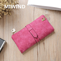 Wholesale Women Wallet Luxury Matte PU Female Leather Card Wallet Long Zipper Soft Fashion Ladies Long Day Clutch Coin Purse Card Holder