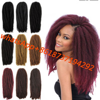 Wholesale Aro Kinky Marley Braid Hair Havana Mambo Twist Kanekalon Crochet kinky Twist Hair For African American Women Afro Natural Hair